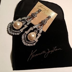 Kenneth Jay Lane Couture Deco Clip earrings